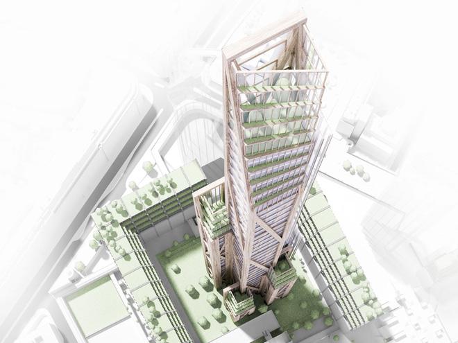 Không phải bê tông hay sắt thép, các tòa nhà chọc trời trong tương lai sẽ được xây dựng hoàn toàn từ... gỗ - Ảnh 7.