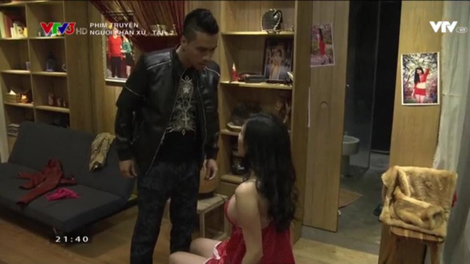 Bạn gái Phan Hải gây tranh cãi khi toàn mặc hở hang trong phim Người phán xử - Ảnh 6.