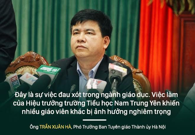 Những phát ngôn sau quyết định cách chức hiệu trưởng trường Tiểu học Nam Trung Yên - Ảnh 1.