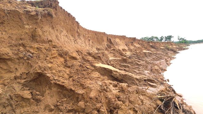Video: Hàng trăm nghìn mét đất bị sông Lam nuốt chửng từng ngày - Ảnh 3.
