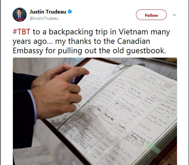 Thủ tướng Canada Justin Trudeau tiết lộ từng du lịch bụi đến Việt Nam đón Tết - Ảnh 1.