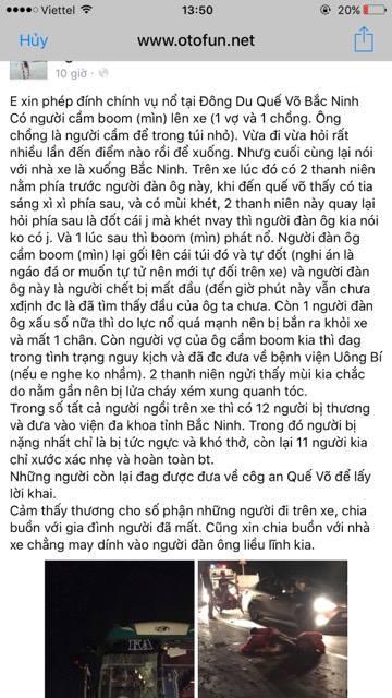 Chủ tịch tỉnh Bắc Ninh: Công an xác định có chất nổ trên xe khách - Ảnh 2.