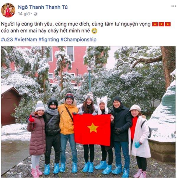 Sao Việt người bỏ show, người hào hứng sang Trung Quốc ủng hộ U23 Việt Nam - Ảnh 1.