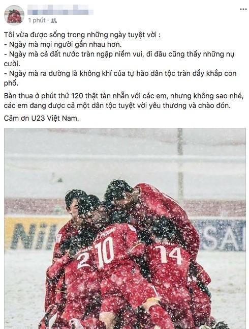 Sau trận chung kết U23 Châu Á, dân mạng Việt đăng trạng thái: Vất vả rồi, về đi các em! - Ảnh 5.