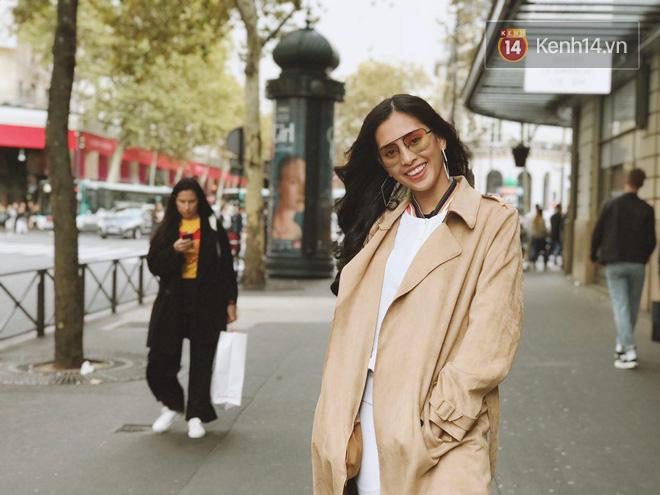 Hoa hậu Tiểu Vy mặt mộc dạo phố Paris, khoe vẻ đẹp đầy sức sống của tuổi 18 - Ảnh 8.