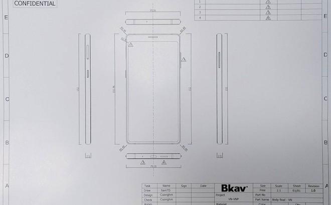 Đây là Bphone 3 với màn hình tràn đáy: Chiếc smartphone không cằm nhưng có trán thật là cao - Ảnh 1.
