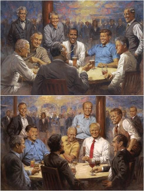 """Tranh vẽ Tổng thống Trump """"tiên đoán"""" Mỹ sẽ có 1 nữ Tổng thống - Ảnh 1."""
