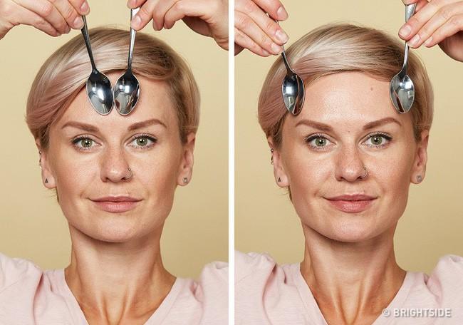 Massage chống lão hóa kiểu châu Á: Chỉ dùng thìa mà sau 2 tuần đã có da mặt căng mọng, khỏe mạnh không nếp nhăn - Ảnh 6.