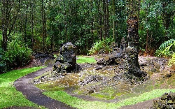 Núi lửa phun trào, rừng cây nham thạch xuất hiện - Ảnh 3.