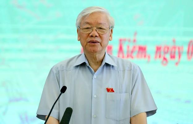 TBT Nguyễn Phú Trọng nói về việc được giới thiệu ứng cử Chủ tịch nước: Không phải vì nhất thể hóa, đây là tình huống - Ảnh 3.