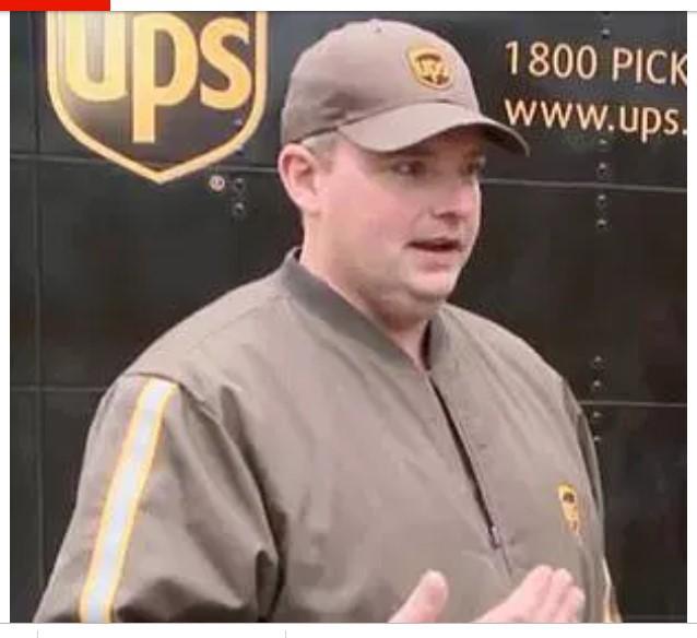 Với thị lực đáng nể, tài xế UPS phát hiện vật lạ trên đường, ngăn chặn 1 thảm họa xảy ra - Ảnh 1.