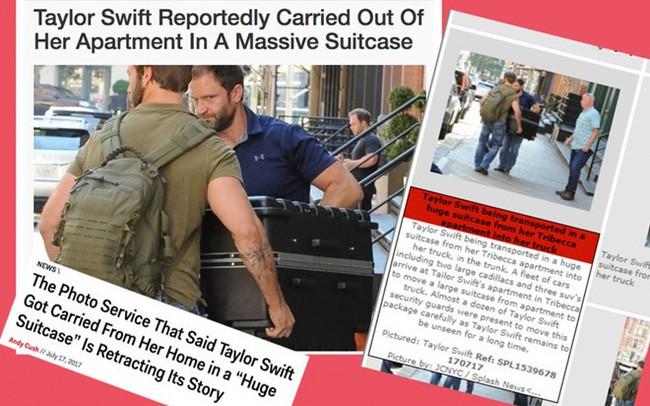 Các ngôi sao cũng phải quỳ gối trước chiêu thức trốn phóng viên của Taylor Swift: Chui vào vali? - Ảnh 2.