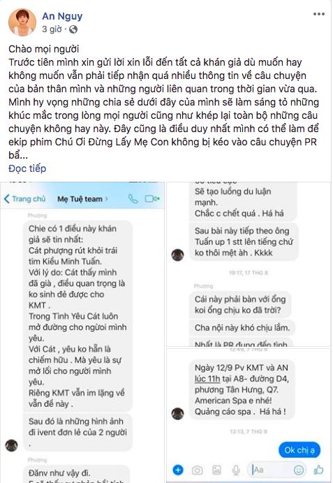 """Diễn viên Huỳnh Đông (đạo diễn phim """"Mẹ Tuệ"""") khẳng định tin nhắn trong """"team Mẹ Tuệ"""" mà An Nguy tung ra là giả mạo - Ảnh 1."""