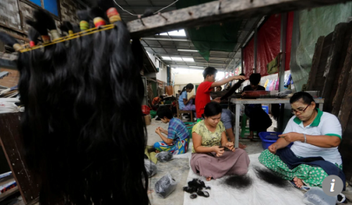 Ngành công nghiệp xuất khẩu tóc người bùng nổ ở Myanmar - Ảnh 1.
