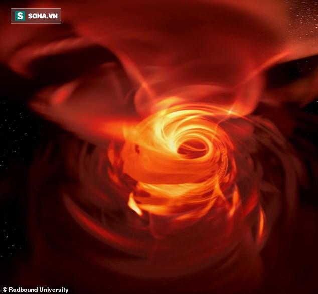 Mô phỏng sức mạnh khủng khiếp của siêu lỗ đen khổng lồ nằm giữa dải ngân hà - Ảnh 3.