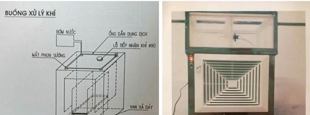 """Nam sinh trường huyện chế tạo """"máy hút - khử khí độc trong phòng thực hành hóa học"""" - Ảnh 2."""