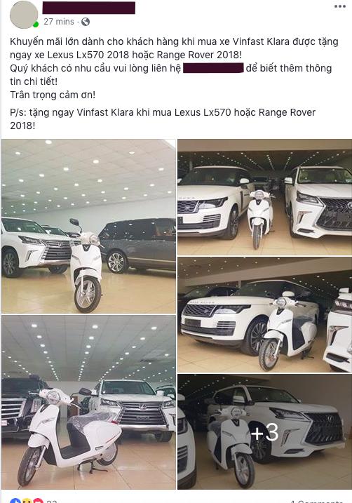 Bán xe thời VinFast: Rao Range Rover, Lexus LX570 tặng ngay xe điện Klara - Ảnh 1.