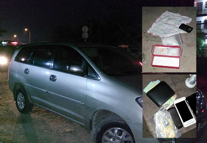 Đôi nam nữ bị bắt trên xe 7 chỗ cùng ma túy và cân tiểu li - Ảnh 2.