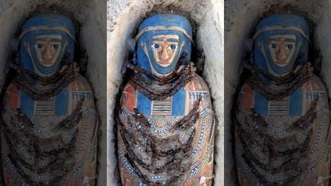 Kho báu chứa nhiều xác ướp cổ đại còn nguyên vẹn ở Ai Cập - Ảnh 1.