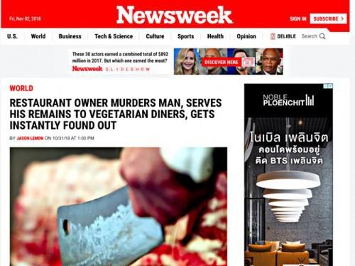 Cảnh sát Thái Lan họp báo lên tiếng vụ thịt người trong món ăn chay - Ảnh 1.
