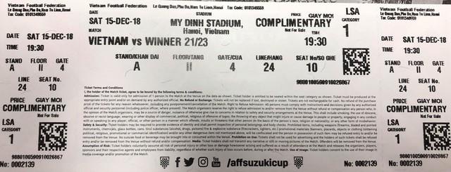 Thực hư chuyện tấm vé điềm báo chung kết Việt Nam vs Malaysia khiến CĐV hoang mang - Ảnh 1.