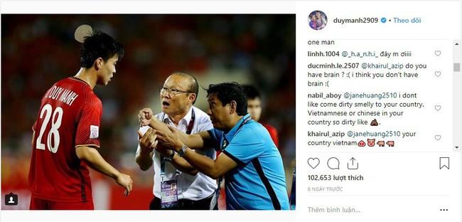 Bị CĐV Malaysia tấn công dữ dội trên Instagram, nhưng cách Duy Mạnh phản ứng mới đáng chú ý - Ảnh 3.