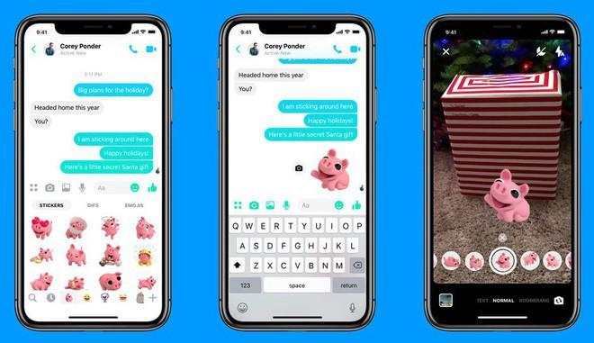 Facebook Messenger bổ sung chế độ chụp ảnh chân dung không cần camera kép và nhãn dán AR - Ảnh 2.