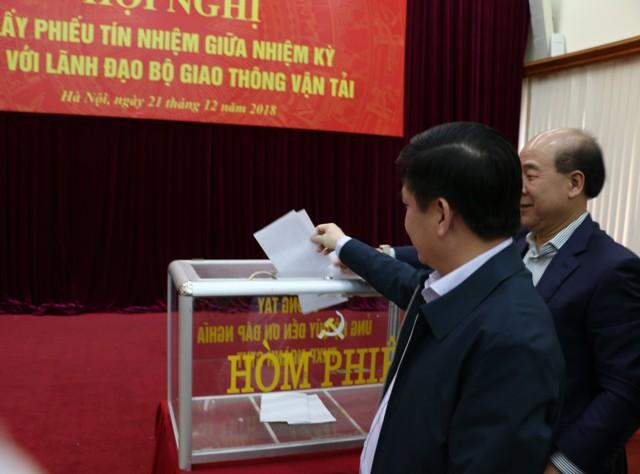 Lấy phiếu tín nhiệm Bộ trưởng, các Thứ trưởng Bộ GTVT - Ảnh 2.