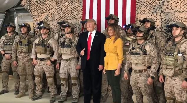 Thăm căn cứ Mỹ tại Iraq, ông Trump tiện thể tiết lộ thông tin tình báo tuyệt mật cho cả thế giới biết - Ảnh 2.