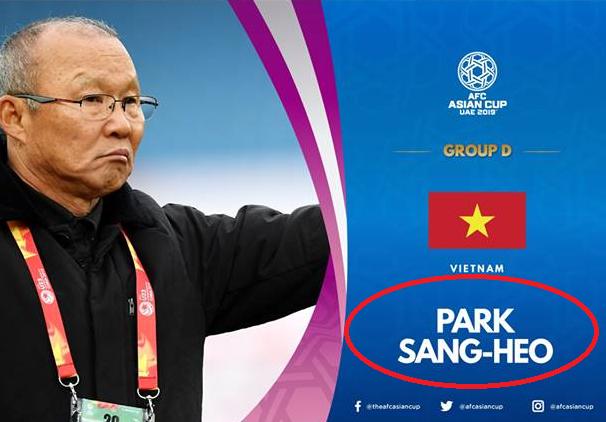 HLV Park Hang-seo bị đổi tên vì sai sót hài hước của AFC - Ảnh 1.