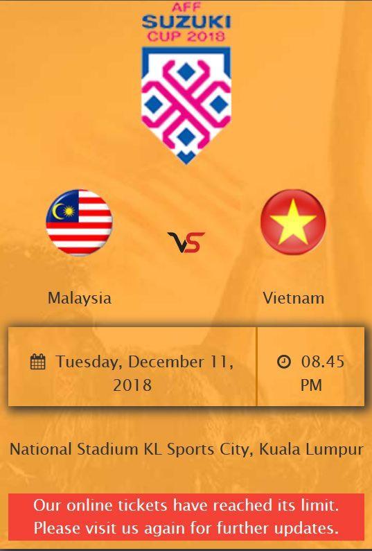 20.000 vé xem chung kết lượt đi AFF Cup Malaysia vs Việt Nam bị bán nhầm - Ảnh 1.