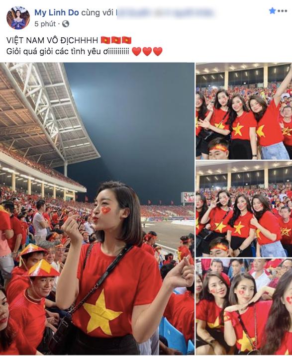 Dàn sao Vbiz đang ăn mừng tuyển Việt Nam vào chung kết: Mỗi người một kiểu, ai cũng vui nổ trời! - Ảnh 1.