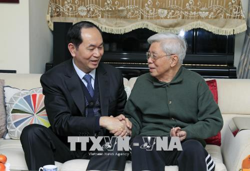 Chủ tịch nước thăm, chúc Tết nhân sĩ trí thức - Ảnh 2.