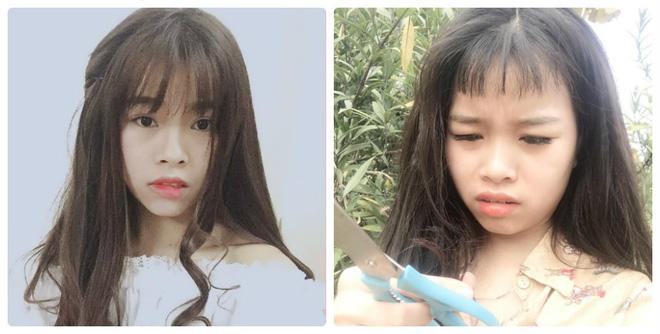 Tự tay cắt tóc mái đi chơi Tết, cô gái bật khóc khi nhìn thành quả qua gương - Ảnh 2.