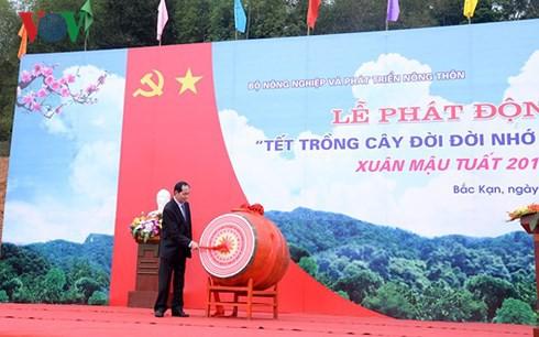 Chủ tịch nước phát động Tết trồng cây đời đời nhớ ơn Bác Hồ - Ảnh 2.