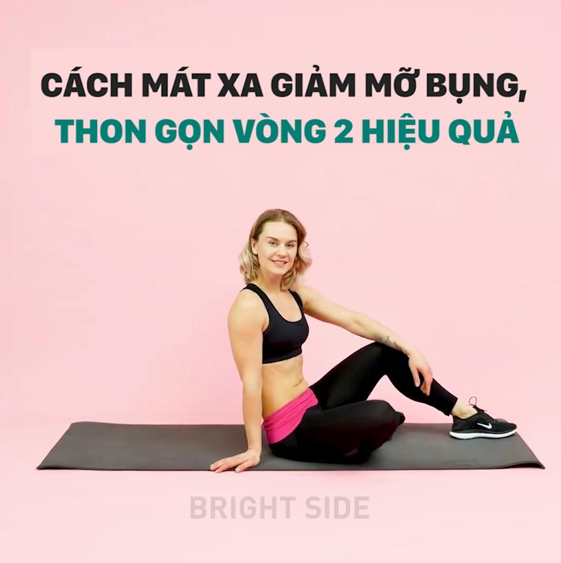 Cách mát xa giảm mỡ bụng, thon gọn vòng 2 hiệu qủa