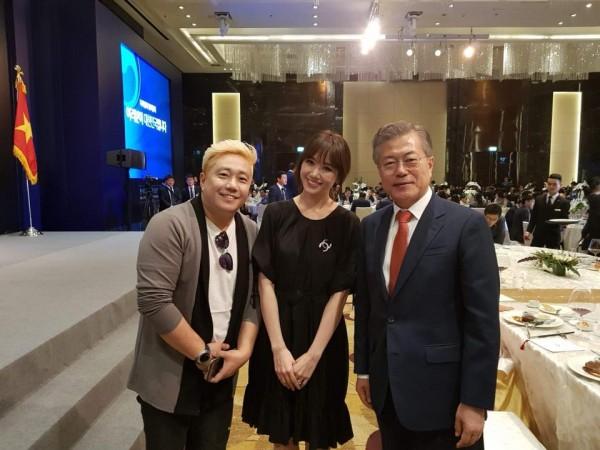 Hari Won mất ngủ vì được tổng thống Hàn Moon Jae In gọi tên, chụp ảnh cùng - Ảnh 3.