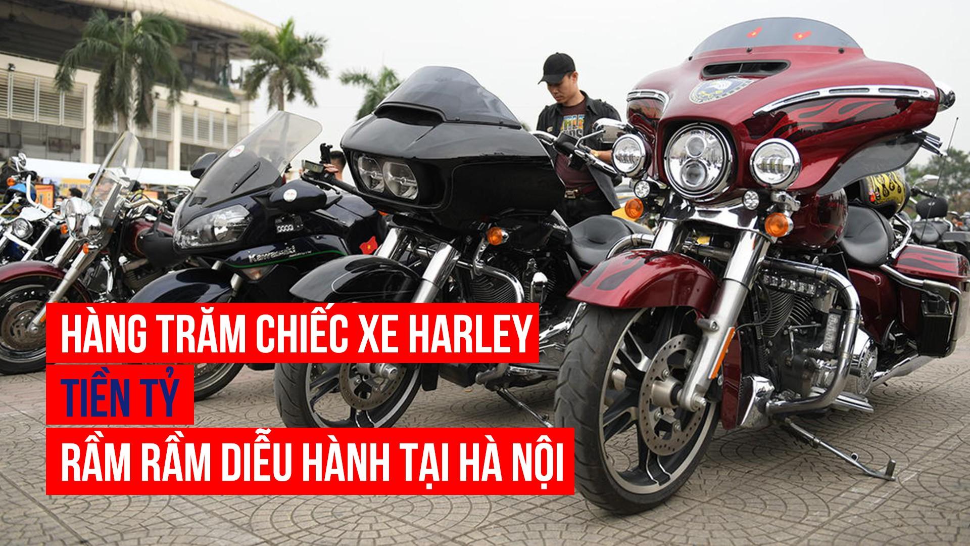 Hàng trăm chiếc xe Harley tiền tỷ rầm rầm diễu hành tại Hà Nội