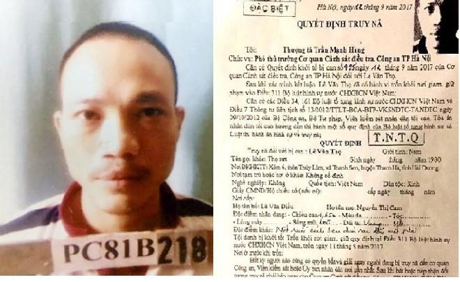 Đề nghị truy tố tử tù Thọ sứt và Nguyễn Văn Tình tội trốn khỏi nơi giam giữ - Ảnh 2.