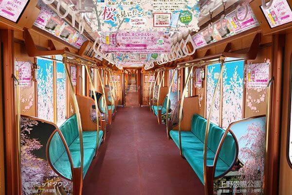Chuyến tàu hoa anh đào có một không hai tại Nhật Bản: May mắn lắm mới lên được, nghìn chuyến chỉ có 1 khoang đẹp như mơ - Ảnh 1.