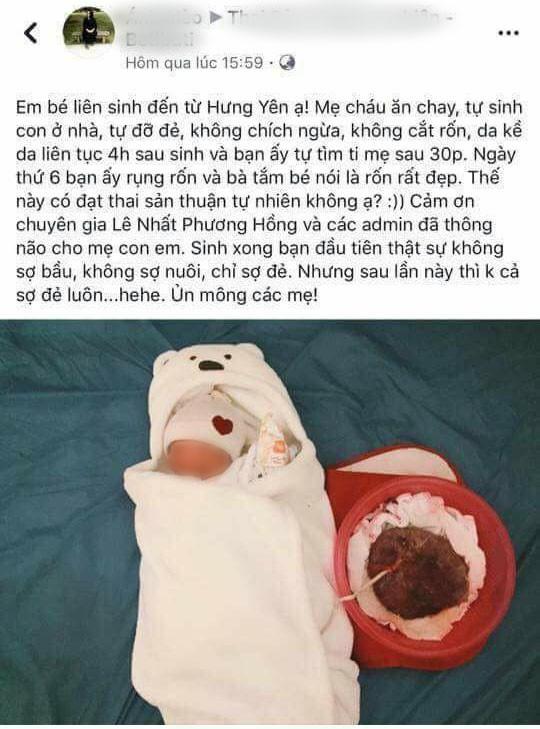 Sinh con thuận tự nhiên, không cắt rốn: Đừng đem sinh mệnh con làm chuột bạch câu like! - Ảnh 1.