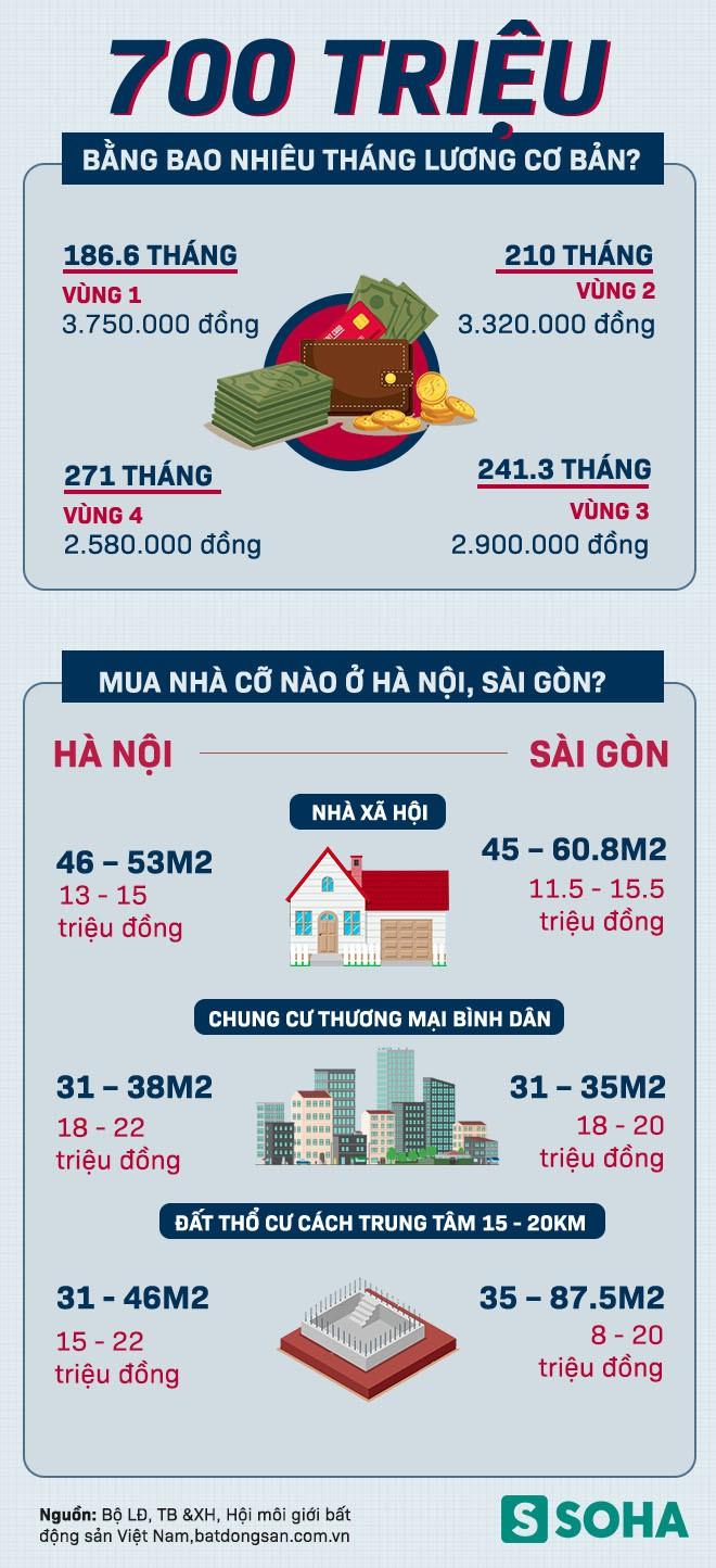 Với 700 triệu đồng sẽ mua được nhà cỡ nào ở Hà Nội và Sài Gòn? - Ảnh 1.