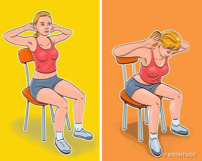 7 động tác loại bỏ mỡ bụng, thon gọn vòng 2 siêu tốc: Ai ngồi nhiều nhất định nên tập! - Ảnh 3.