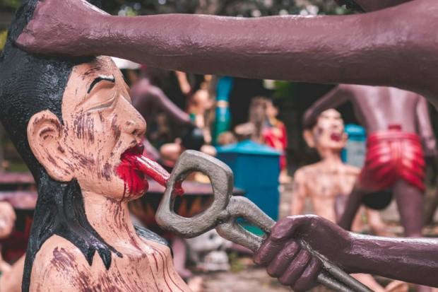 Khu vườn địa ngục ở Thái Lan hút khách du lịch - Ảnh 1.