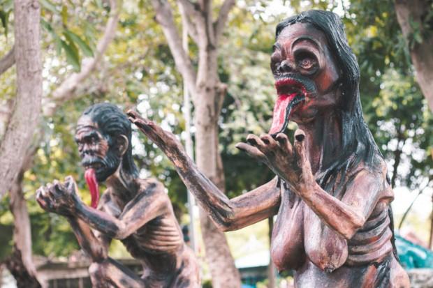 Khu vườn địa ngục ở Thái Lan hút khách du lịch - Ảnh 2.