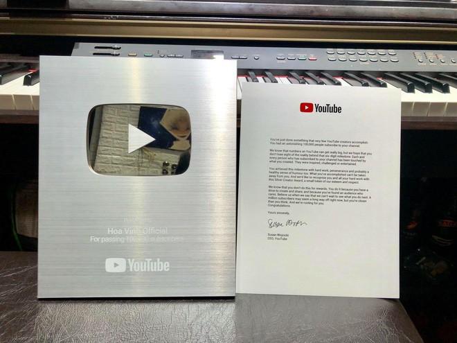 Hoa Vinh khoe được Youtube trao nút bạc, clip khủng nhất có gần 10 triệu lượt xem - Ảnh 2.