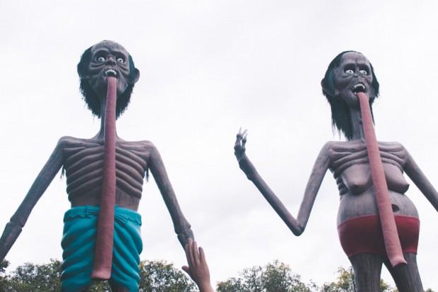 Khu vườn địa ngục ở Thái Lan hút khách du lịch - Ảnh 3.
