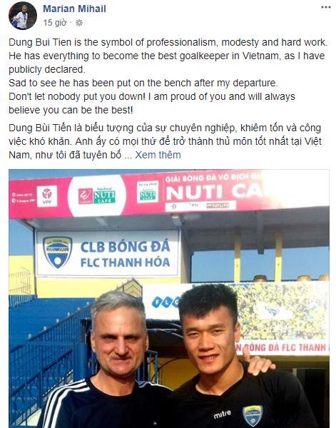 HLV Thanh Hóa vừa mất ghế nhắn nhủ Bùi Tiến Dũng: Cậu sẽ trở thành thủ môn giỏi nhất - Ảnh 2.