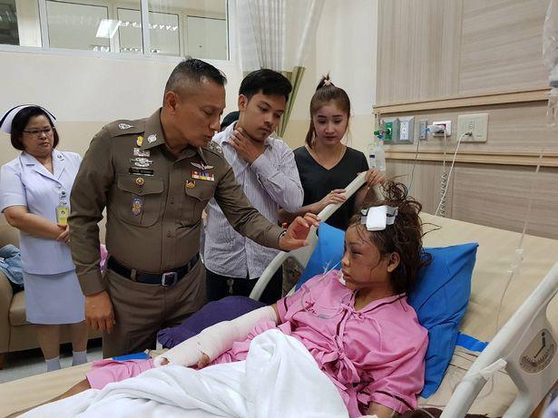 Thái Lan: Cô gái bị bạn trai cuồng ghen livetream cảnh đánh đập, đốt tóc đến biến dạng mặt - Ảnh 4.