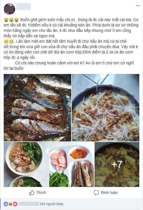 Chăm chỉ nấu cơm ngày 3 bữa, cô vợ trẻ phát điên vì chồng vẫn chê rồi ăn cơm hộp 4 ngày liên tiếp - Ảnh 1.